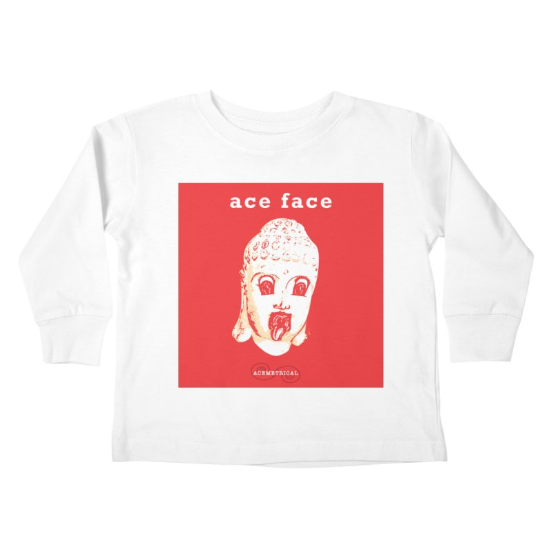 ACE FACE Buddha [REAL RED] ( / ) ACEMETRICAL Kids Toddler Longsleeve T-Shirt by ACEMETRICAL ( / ) Disc Golf