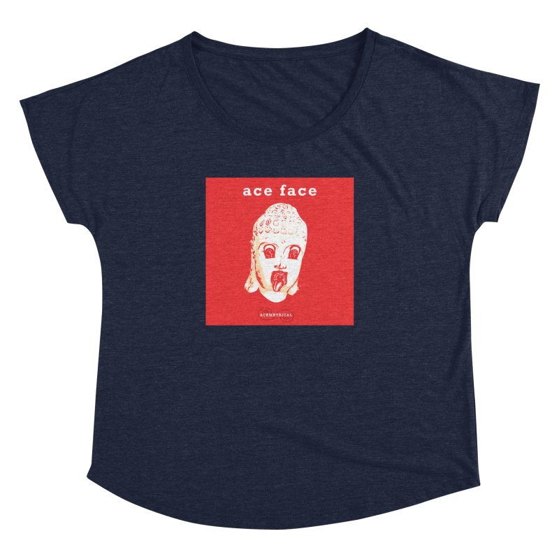 ACE FACE Buddha [REAL RED] ( / ) ACEMETRICAL Women's Dolman Scoop Neck by ACEMETRICAL ( / ) Disc Golf