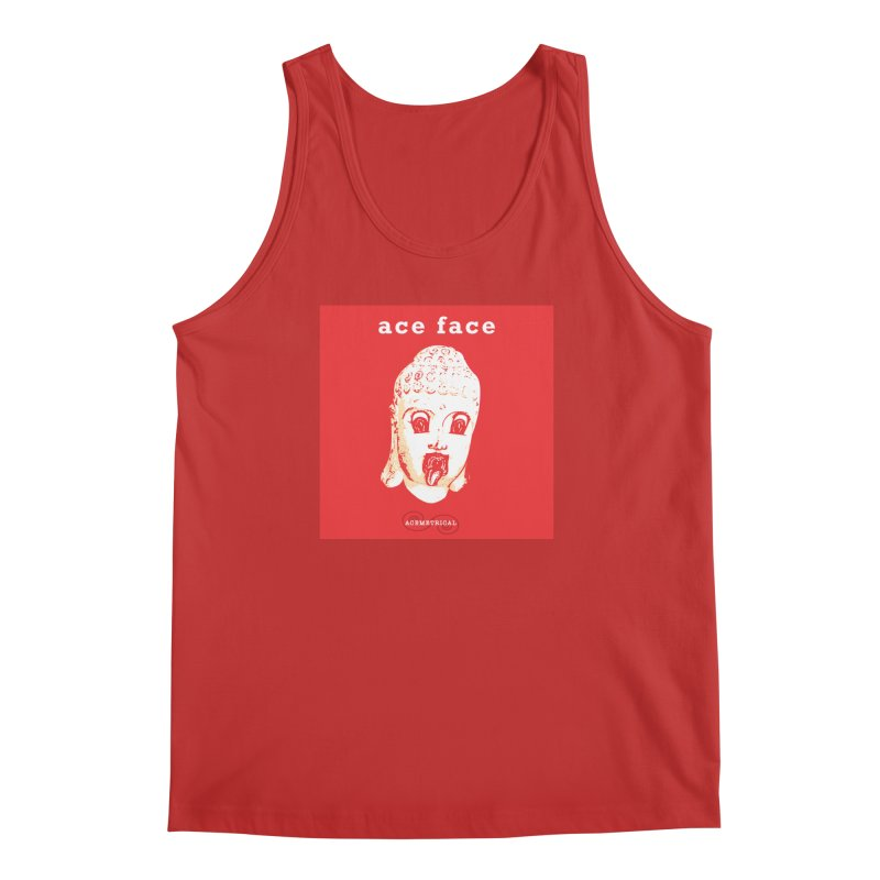 ACE FACE Buddha [REAL RED] ( / ) ACEMETRICAL Men's Regular Tank by ACEMETRICAL ( / ) Disc Golf