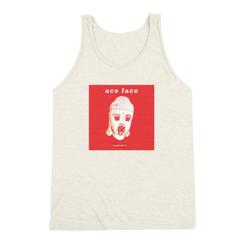 ACE FACE Buddha [REAL RED] ( / ) ACEMETRICAL Men's Triblend Tank by ACEMETRICAL ( / ) Disc Golf