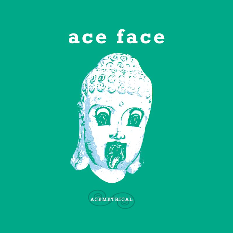 ACE FACE Buddha [AQUAMARINE GREEN] - ACEMETRICAL Men's V-Neck by ACEMETRICAL ( / ) Disc Golf