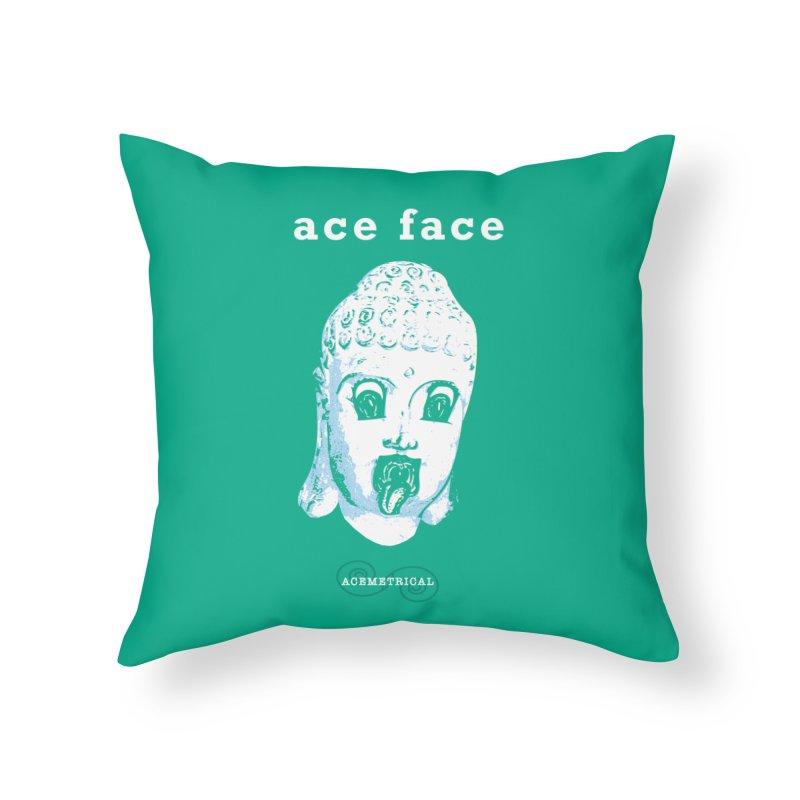 ACE FACE Buddha [AQUAMARINE GREEN] - ACEMETRICAL Home Throw Pillow by ACEMETRICAL ( / ) Disc Golf