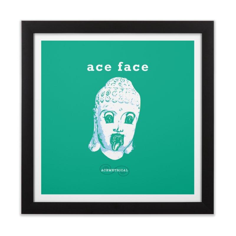ACE FACE Buddha [AQUAMARINE GREEN] - ACEMETRICAL Home Framed Fine Art Print by ACEMETRICAL ( / ) Disc Golf