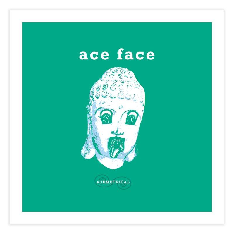 ACE FACE Buddha [AQUAMARINE GREEN] - ACEMETRICAL Home Fine Art Print by ACEMETRICAL ( / ) Disc Golf