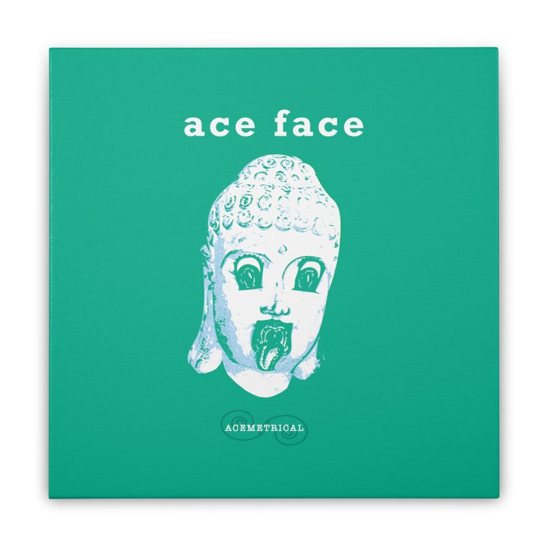 ACE FACE Buddha [AQUAMARINE GREEN] - ACEMETRICAL Home Stretched Canvas by ACEMETRICAL ( / ) Disc Golf