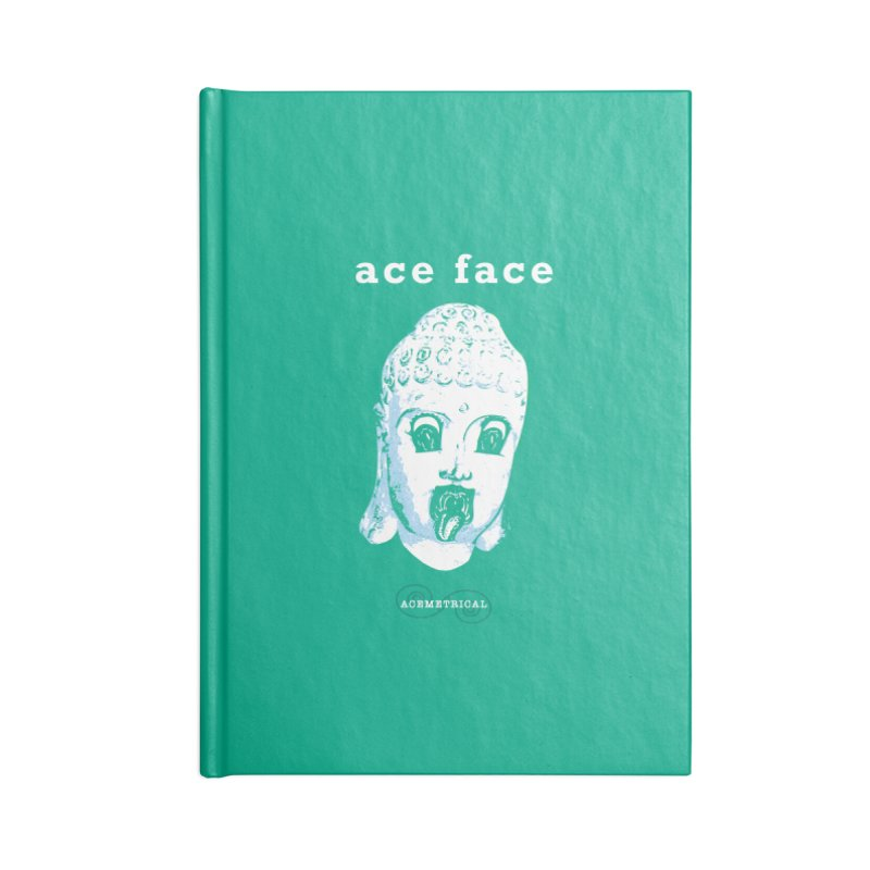 ACE FACE Buddha [AQUAMARINE GREEN] - ACEMETRICAL Accessories Blank Journal Notebook by ACEMETRICAL ( / ) Disc Golf