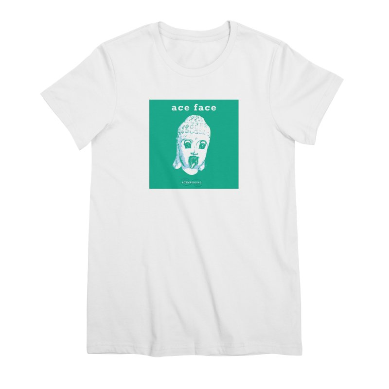 ACE FACE Buddha [AQUAMARINE GREEN] - ACEMETRICAL Women's Premium T-Shirt by ACEMETRICAL ( / ) Disc Golf