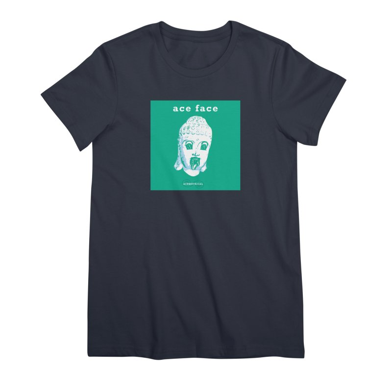 ACE FACE Buddha [AQUAMARINE GREEN] - ACEMETRICAL Women's Premium T-Shirt by ACEMETRICAL ( / ) Disc Golf