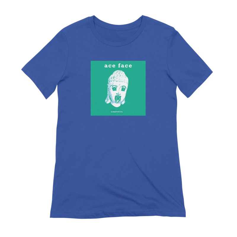 ACE FACE Buddha [AQUAMARINE GREEN] - ACEMETRICAL Women's Extra Soft T-Shirt by ACEMETRICAL ( / ) Disc Golf