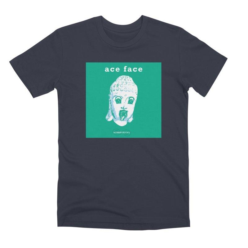 ACE FACE Buddha [AQUAMARINE GREEN] - ACEMETRICAL Men's Premium T-Shirt by ACEMETRICAL ( / ) Disc Golf
