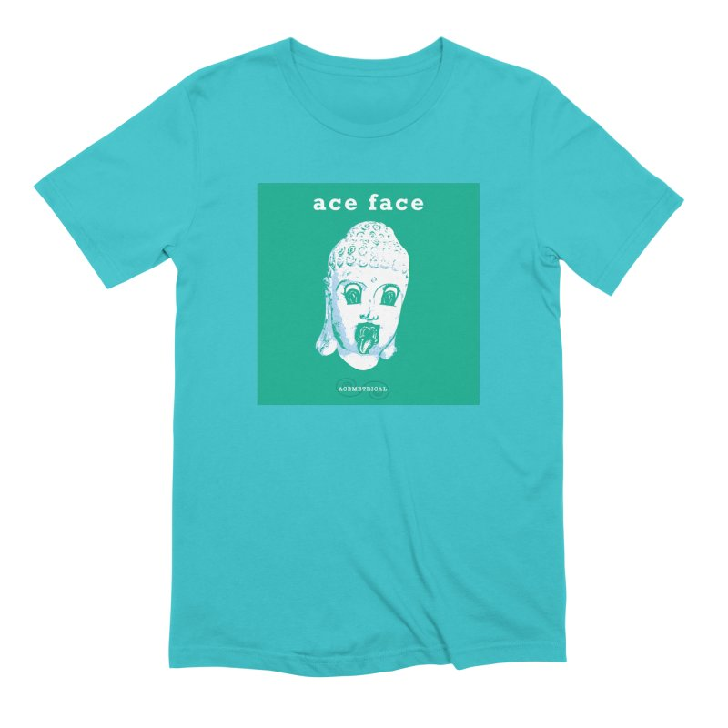 ACE FACE Buddha [AQUAMARINE GREEN] - ACEMETRICAL Men's Extra Soft T-Shirt by ACEMETRICAL ( / ) Disc Golf