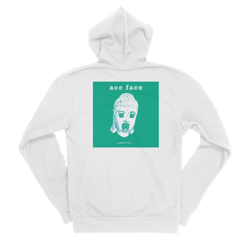 ACE FACE Buddha [AQUAMARINE GREEN] - ACEMETRICAL Men's Sponge Fleece Zip-Up Hoody by ACEMETRICAL ( / ) Disc Golf
