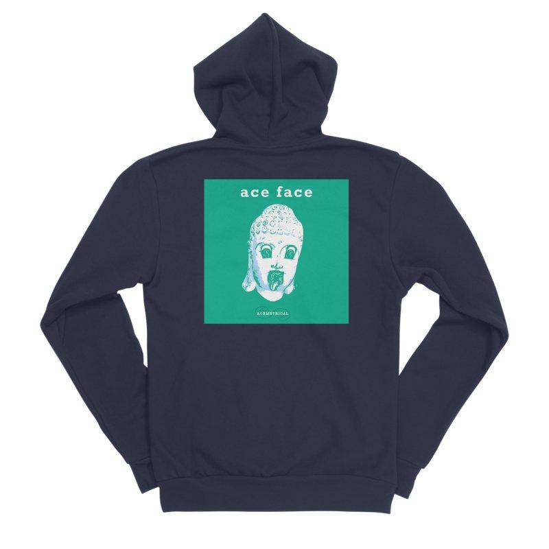 ACE FACE Buddha [AQUAMARINE GREEN] - ACEMETRICAL Men's Sponge Fleece Zip-Up Hoody by ACEMETRICAL ( / ) Disc Golf