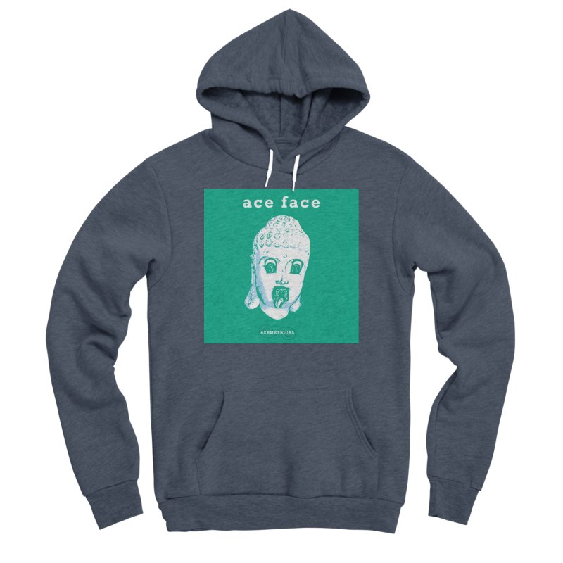 ACE FACE Buddha [AQUAMARINE GREEN] - ACEMETRICAL Men's Sponge Fleece Pullover Hoody by ACEMETRICAL ( / ) Disc Golf