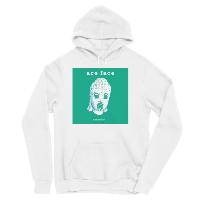 ACE FACE Buddha [AQUAMARINE GREEN] - ACEMETRICAL Men's Sponge Fleece Pullover Hoody by ACEMETRICAL ( / ) Disc Golf