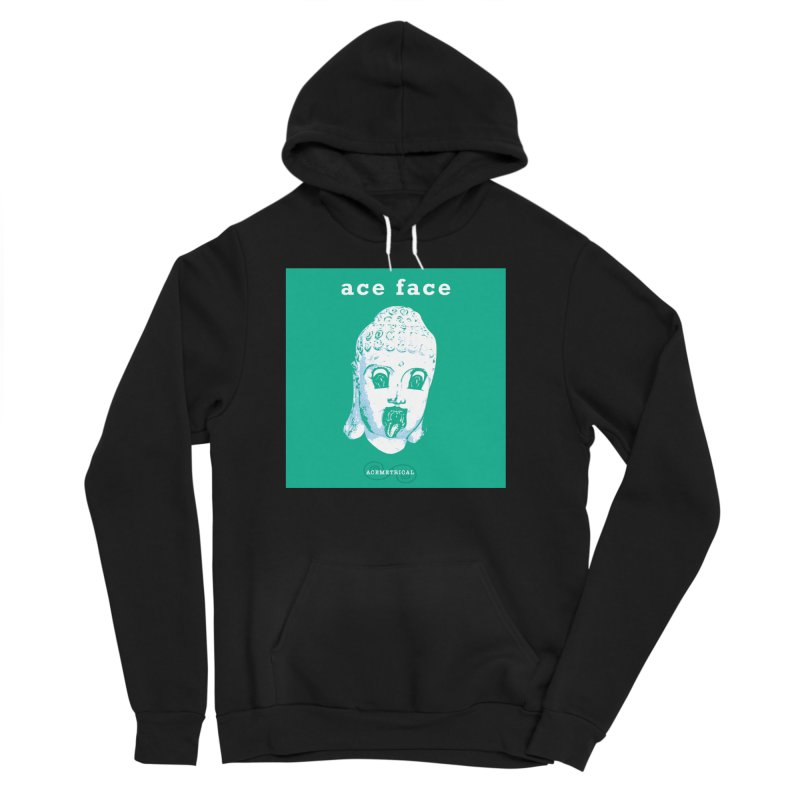 ACE FACE Buddha [AQUAMARINE GREEN] - ACEMETRICAL Women's Sponge Fleece Pullover Hoody by ACEMETRICAL ( / ) Disc Golf