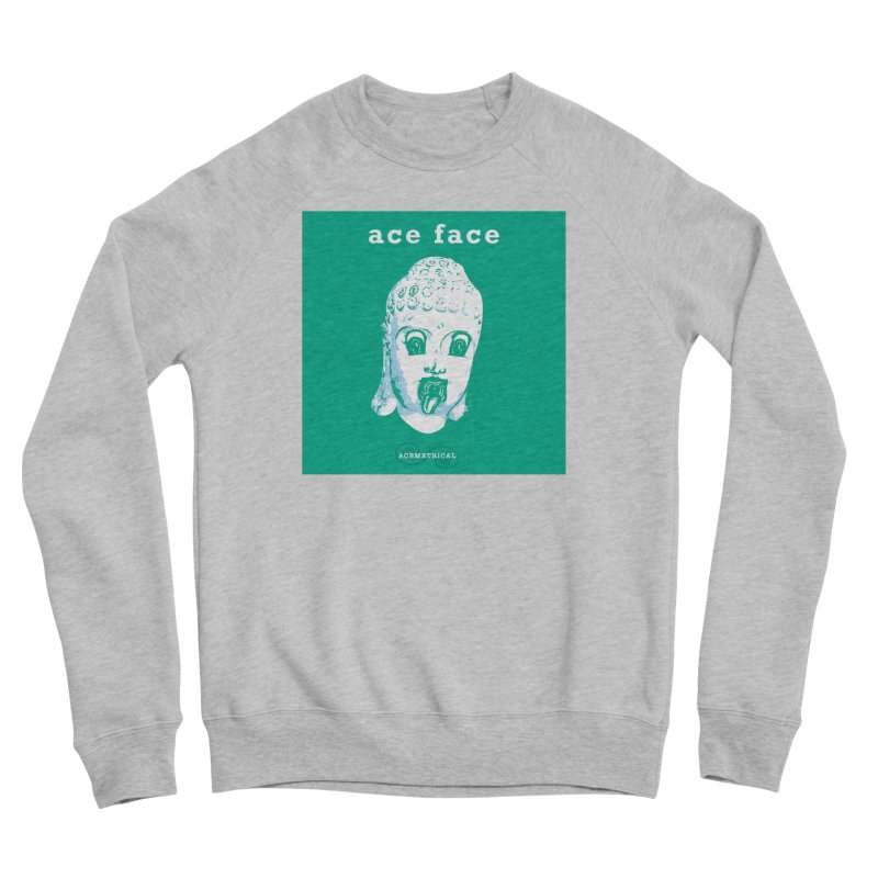 ACE FACE Buddha [AQUAMARINE GREEN] - ACEMETRICAL Men's Sponge Fleece Sweatshirt by ACEMETRICAL ( / ) Disc Golf
