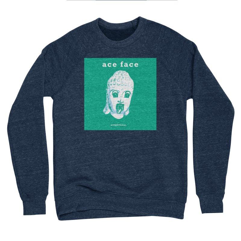 ACE FACE Buddha [AQUAMARINE GREEN] - ACEMETRICAL Men's Sponge Fleece Sweatshirt by ACEMETRICAL ( / ) Disc Golf