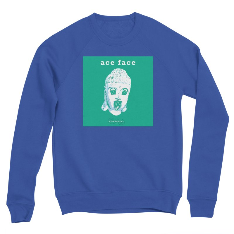 ACE FACE Buddha [AQUAMARINE GREEN] - ACEMETRICAL Women's Sponge Fleece Sweatshirt by ACEMETRICAL ( / ) Disc Golf