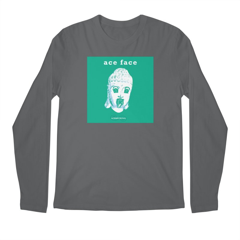 ACE FACE Buddha [AQUAMARINE GREEN] - ACEMETRICAL Men's Longsleeve T-Shirt by ACEMETRICAL ( / ) Disc Golf