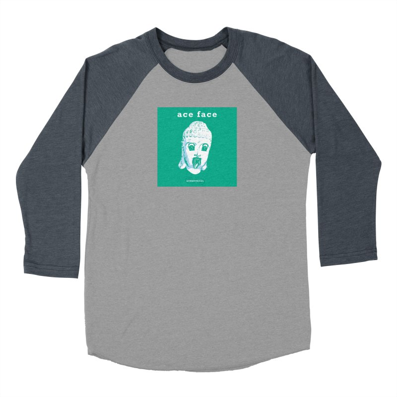 ACE FACE Buddha [AQUAMARINE GREEN] - ACEMETRICAL Men's Longsleeve T-Shirt by ACEMETRICAL ( / ) Disc Golf