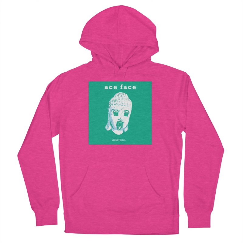 ACE FACE Buddha [AQUAMARINE GREEN] - ACEMETRICAL Women's French Terry Pullover Hoody by ACEMETRICAL ( / ) Disc Golf