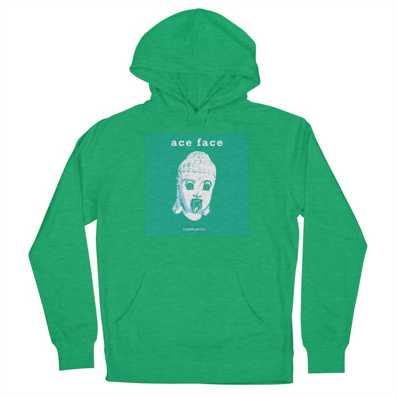 ACE FACE Buddha [AQUAMARINE GREEN] - ACEMETRICAL Men's French Terry Pullover Hoody by ACEMETRICAL ( / ) Disc Golf