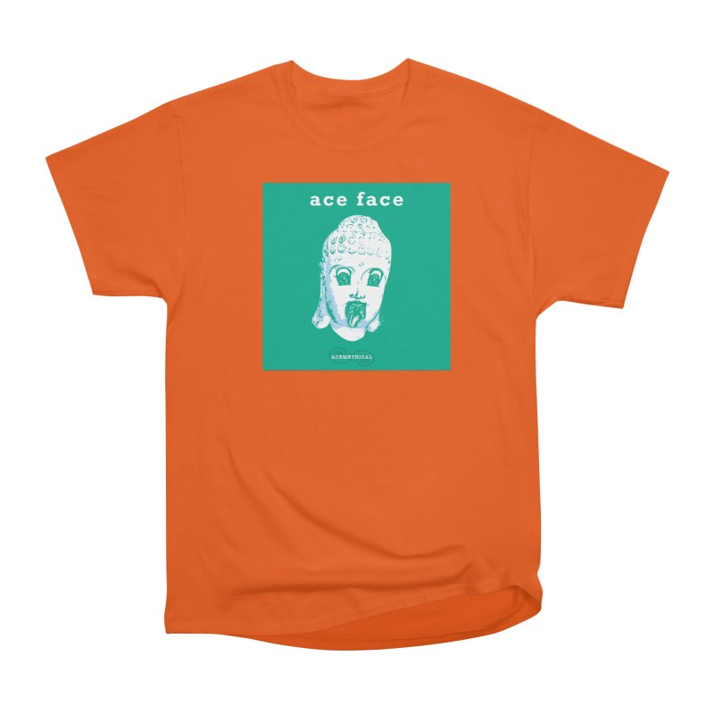 ACE FACE Buddha [AQUAMARINE GREEN] - ACEMETRICAL Men's Heavyweight T-Shirt by ACEMETRICAL ( / ) Disc Golf