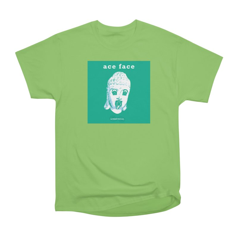 ACE FACE Buddha [AQUAMARINE GREEN] - ACEMETRICAL Men's Heavyweight T-Shirt by ACEMETRICAL ( / ) Disc Golf