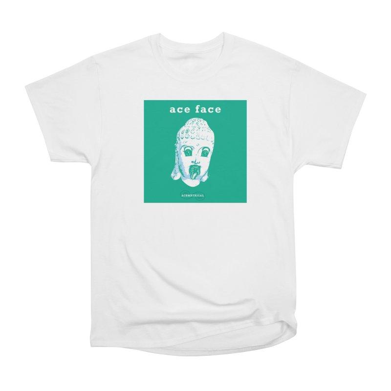 ACE FACE Buddha [AQUAMARINE GREEN] - ACEMETRICAL Women's Heavyweight Unisex T-Shirt by ACEMETRICAL ( / ) Disc Golf