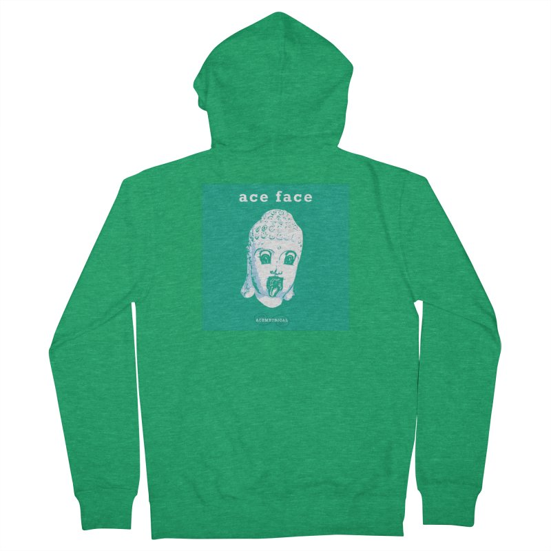 ACE FACE Buddha [AQUAMARINE GREEN] - ACEMETRICAL Women's Zip-Up Hoody by ACEMETRICAL ( / ) Disc Golf