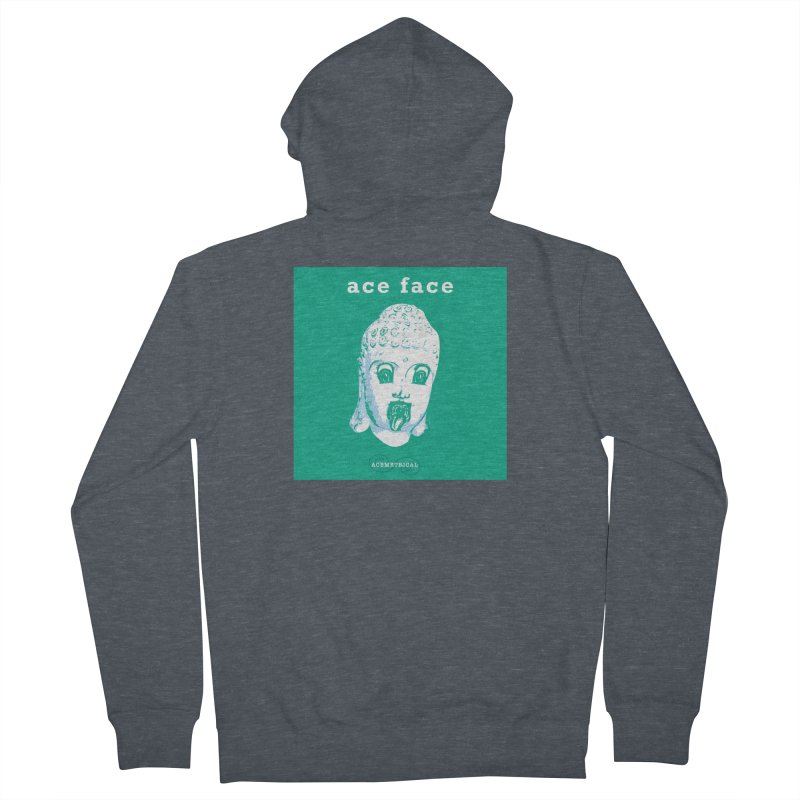ACE FACE Buddha [AQUAMARINE GREEN] - ACEMETRICAL Women's French Terry Zip-Up Hoody by ACEMETRICAL ( / ) Disc Golf