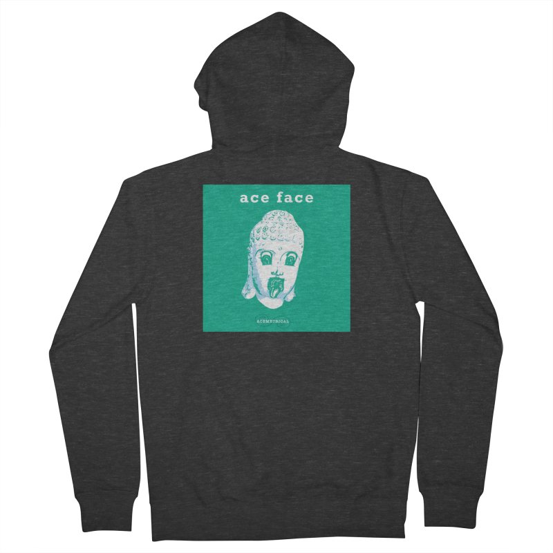 ACE FACE Buddha [AQUAMARINE GREEN] - ACEMETRICAL Men's French Terry Zip-Up Hoody by ACEMETRICAL ( / ) Disc Golf