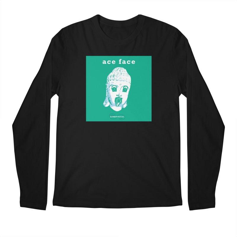 ACE FACE Buddha [AQUAMARINE GREEN] - ACEMETRICAL Men's Regular Longsleeve T-Shirt by ACEMETRICAL ( / ) Disc Golf