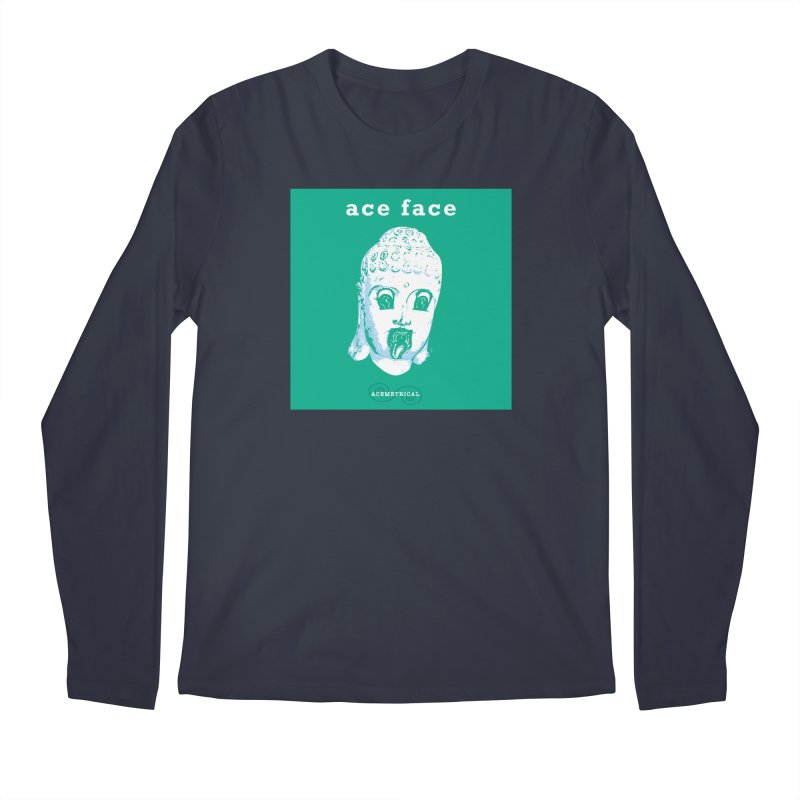 ACE FACE Buddha [AQUAMARINE GREEN] - ACEMETRICAL Men's Regular Longsleeve T-Shirt by ACEMETRICAL ( / ) Disc Golf