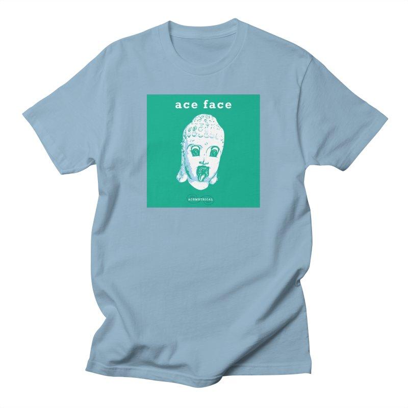 ACE FACE Buddha [AQUAMARINE GREEN] - ACEMETRICAL Men's T-Shirt by ACEMETRICAL ( / ) Disc Golf