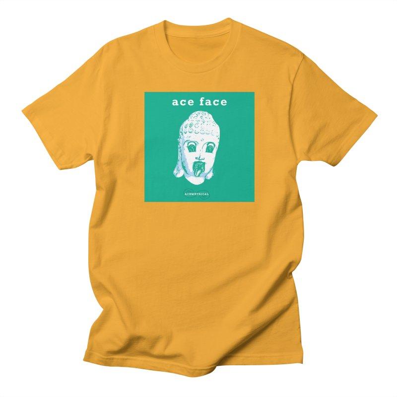 ACE FACE Buddha [AQUAMARINE GREEN] - ACEMETRICAL Women's Regular Unisex T-Shirt by ACEMETRICAL ( / ) Disc Golf