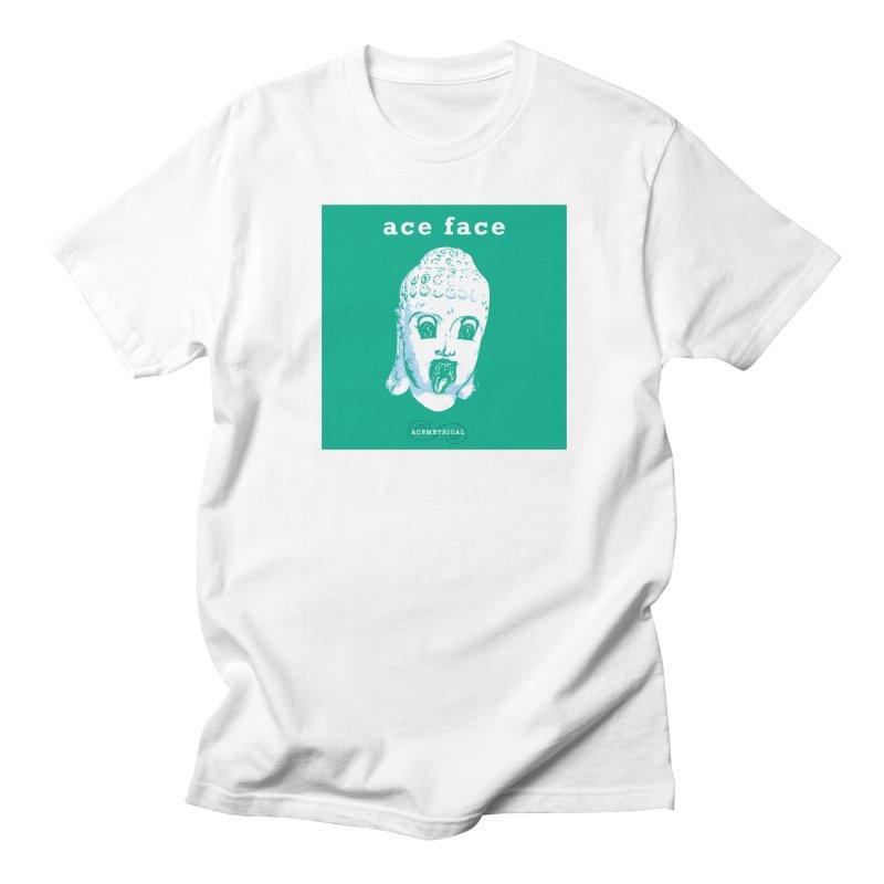 ACE FACE Buddha [AQUAMARINE GREEN] - ACEMETRICAL Men's Regular T-Shirt by ACEMETRICAL ( / ) Disc Golf