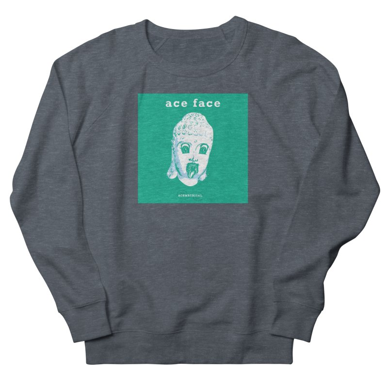 ACE FACE Buddha [AQUAMARINE GREEN] - ACEMETRICAL Women's French Terry Sweatshirt by ACEMETRICAL ( / ) Disc Golf