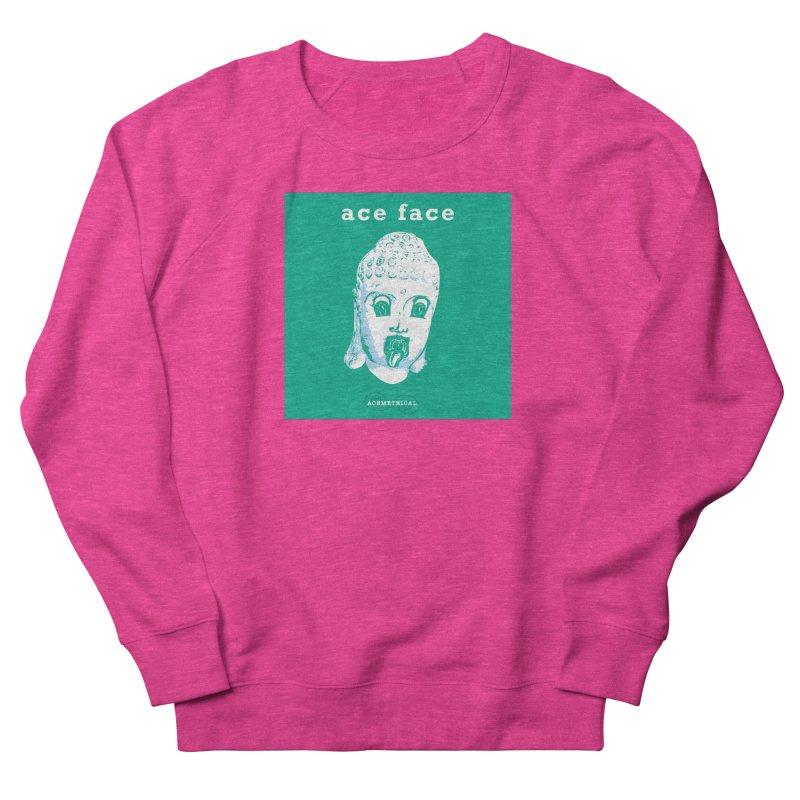 ACE FACE Buddha [AQUAMARINE GREEN] - ACEMETRICAL Women's French Terry Sweatshirt by ACEMETRICAL ( / ) Disc Golf