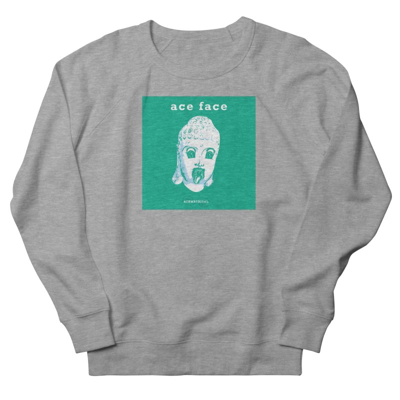 ACE FACE Buddha [AQUAMARINE GREEN] - ACEMETRICAL Men's French Terry Sweatshirt by ACEMETRICAL ( / ) Disc Golf