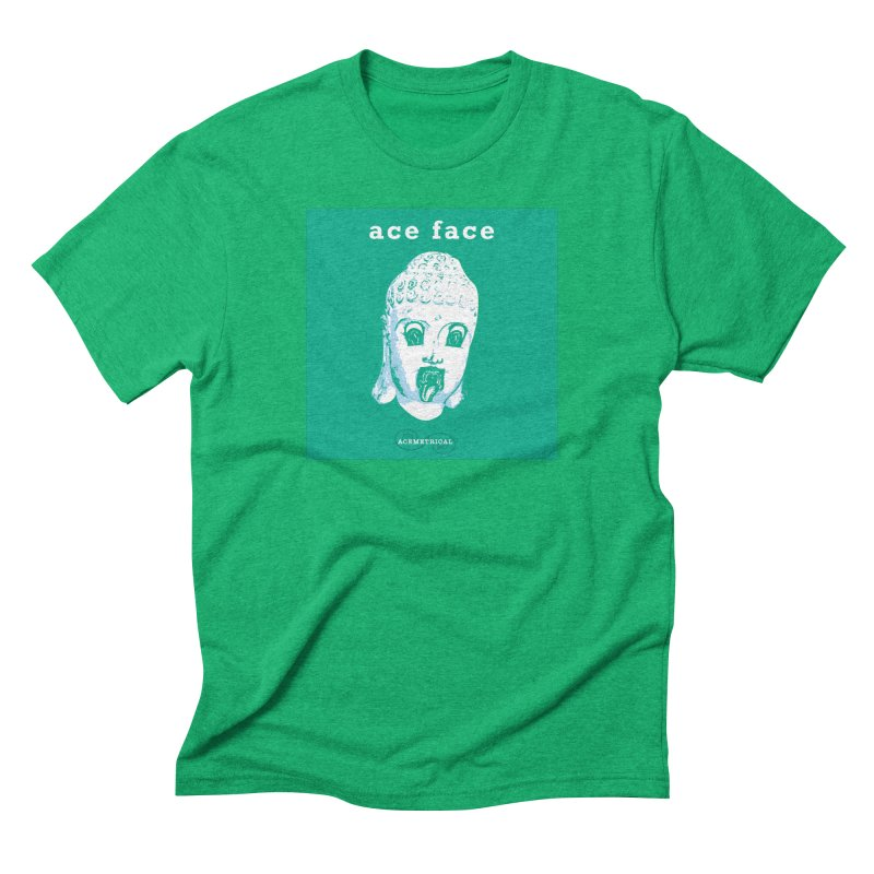 ACE FACE Buddha [AQUAMARINE GREEN] - ACEMETRICAL Men's Triblend T-Shirt by ACEMETRICAL ( / ) Disc Golf