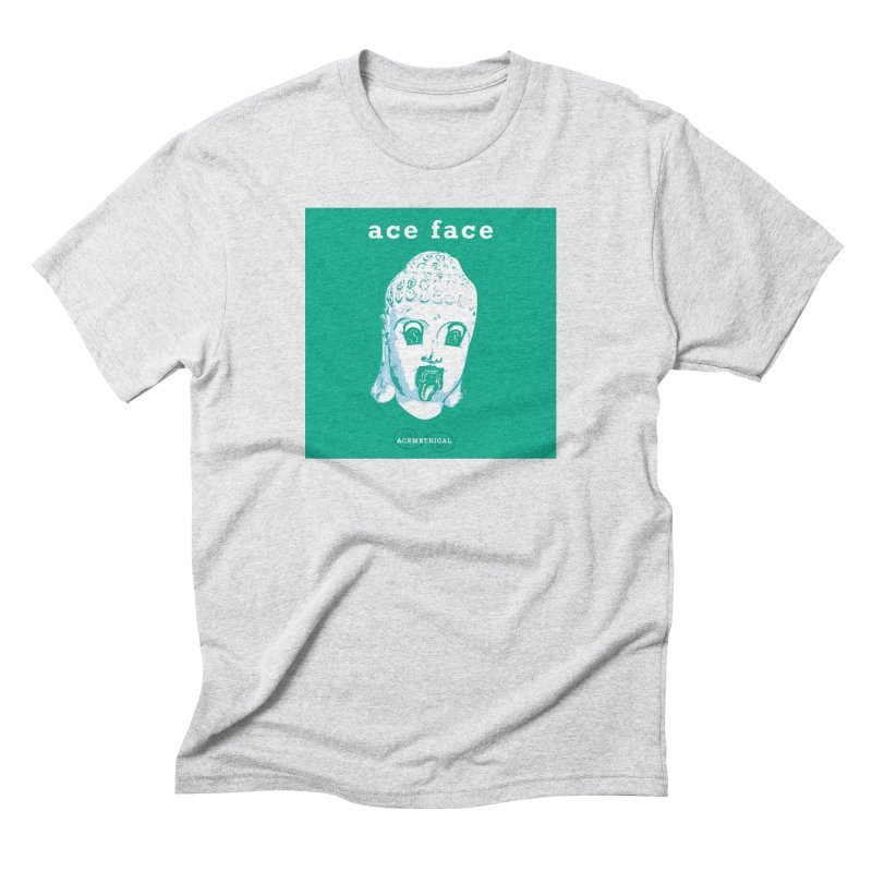 ACE FACE Buddha [AQUAMARINE GREEN] - ACEMETRICAL Men's Triblend T-Shirt by ACEMETRICAL ( / ) Disc Golf