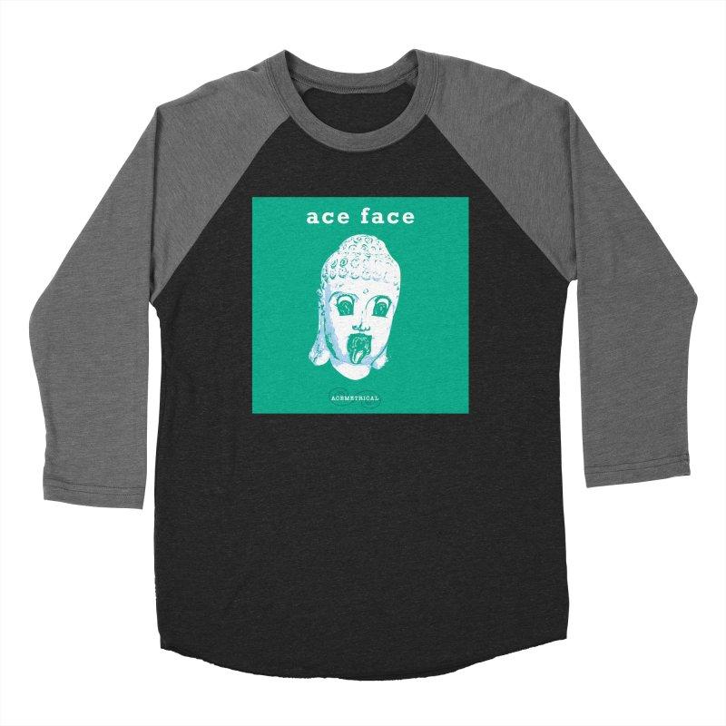 ACE FACE Buddha [AQUAMARINE GREEN] - ACEMETRICAL Women's Baseball Triblend Longsleeve T-Shirt by ACEMETRICAL ( / ) Disc Golf