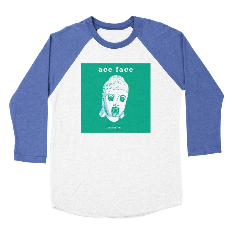 ACE FACE Buddha [AQUAMARINE GREEN] - ACEMETRICAL Men's Baseball Triblend Longsleeve T-Shirt by ACEMETRICAL ( / ) Disc Golf