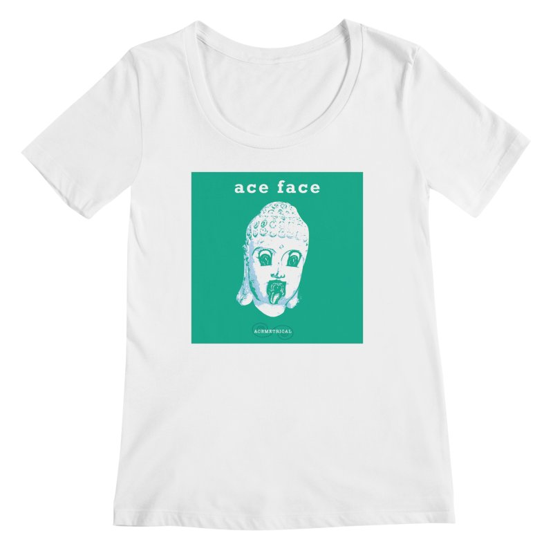 ACE FACE Buddha [AQUAMARINE GREEN] - ACEMETRICAL Women's Regular Scoop Neck by ACEMETRICAL ( / ) Disc Golf