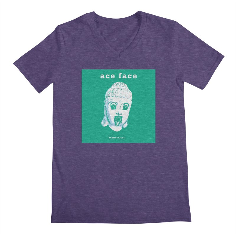 ACE FACE Buddha [AQUAMARINE GREEN] - ACEMETRICAL Men's Regular V-Neck by ACEMETRICAL ( / ) Disc Golf