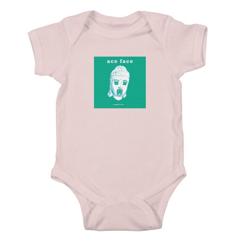 ACE FACE Buddha [AQUAMARINE GREEN] - ACEMETRICAL Kids Baby Bodysuit by ACEMETRICAL ( / ) Disc Golf