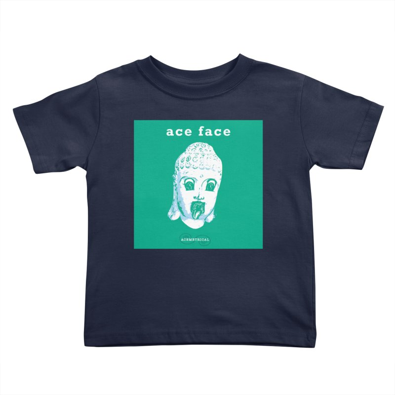 ACE FACE Buddha [AQUAMARINE GREEN] - ACEMETRICAL Kids Toddler T-Shirt by ACEMETRICAL ( / ) Disc Golf