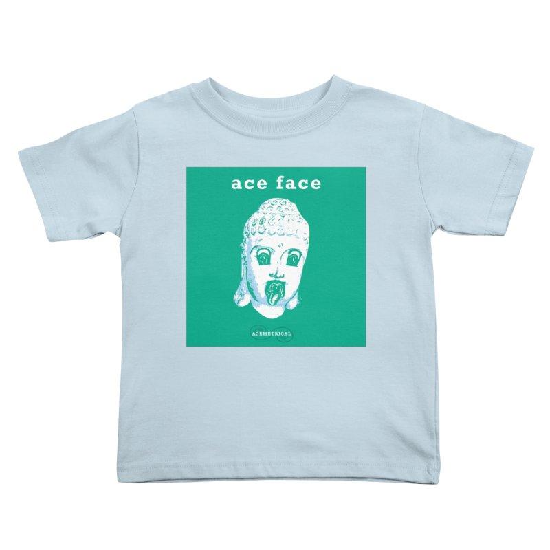 ACE FACE Buddha [AQUAMARINE GREEN] - ACEMETRICAL Kids Toddler T-Shirt by ACEMETRICAL ( / ) Disc Golf